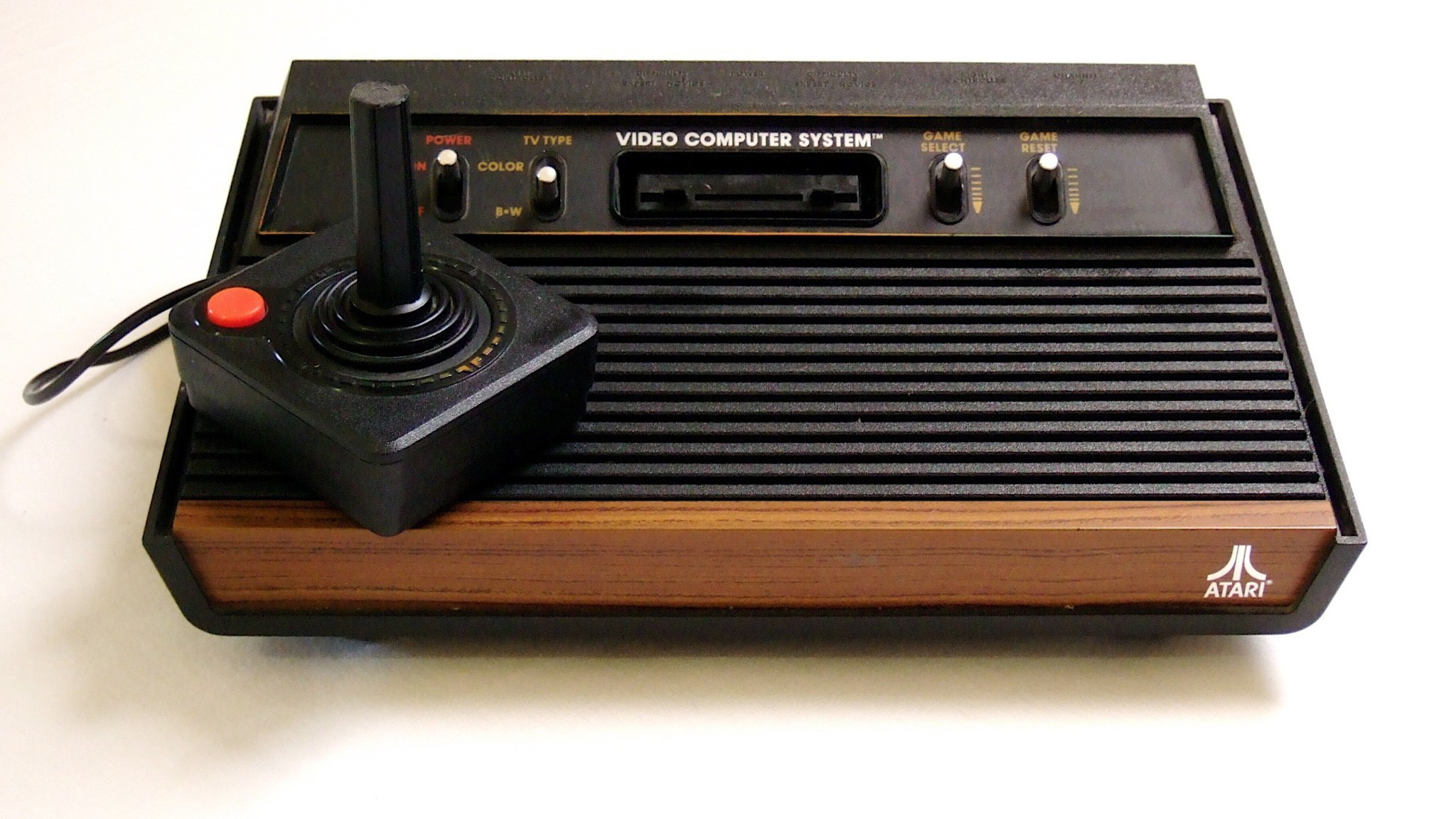 Ordinateurs Millésime Historique Console Atari Joysticks Fond Simple