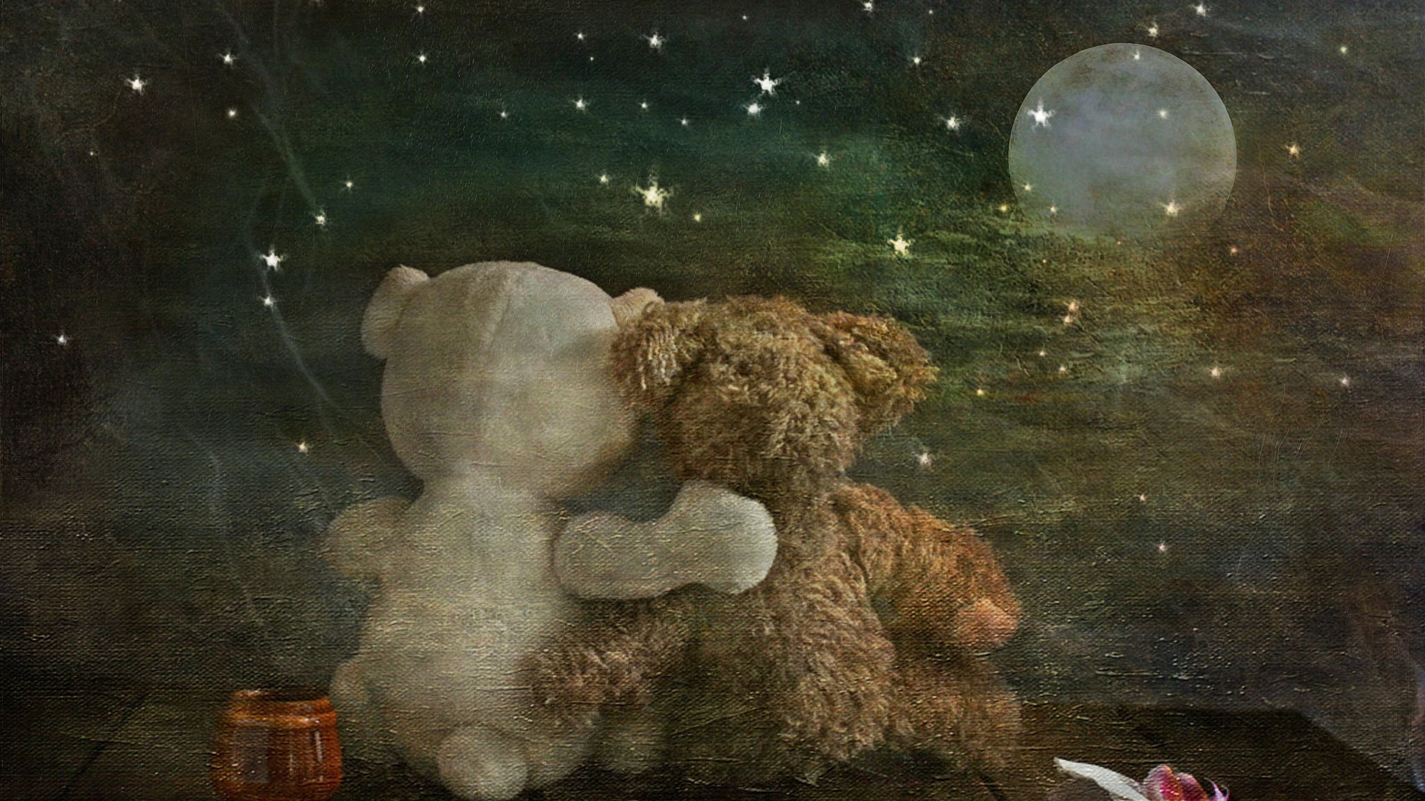 Romantic Teddy Bears Wallpaper Allwallpaper In 6874