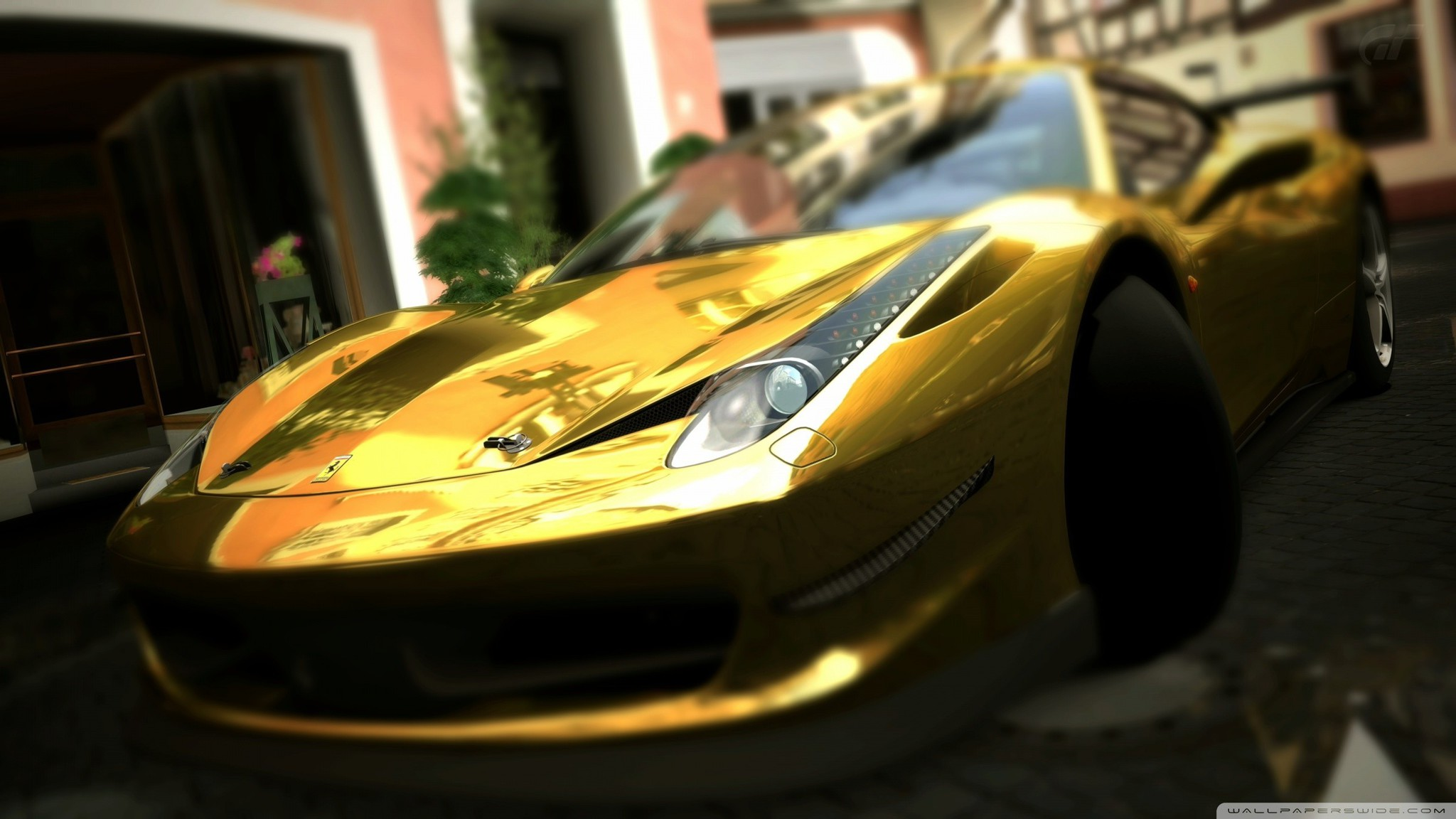 gold ferrari 458 italia wallpaper allwallpaperin 8211