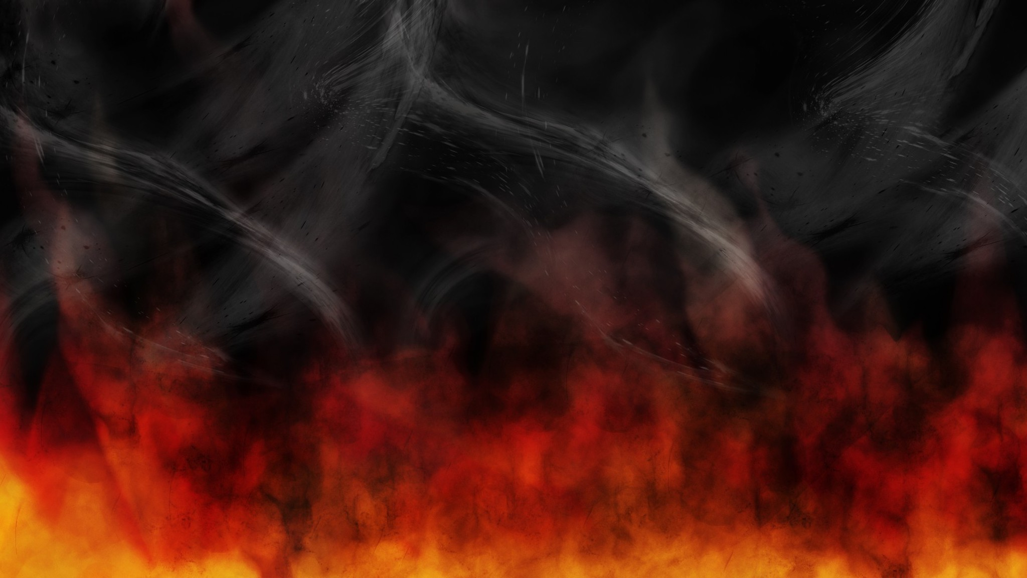 red fire smoke hell wallpaper 8867 pc