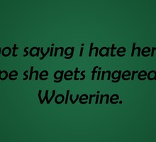 Text wolverine funny fingers HD wallpaper
