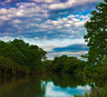 A bend of the oto river HD wallpaper