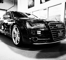 Black and white cars audi a6 HD wallpaper