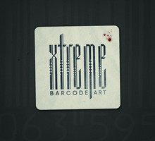 Typography barcode HD wallpaper