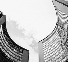 Black and white cityscapes toronto flat HD wallpaper