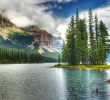 Canada jasper national park maligne lake blue brown HD wallpaper