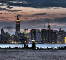 Cityscapes city skyline clouds HD wallpaper