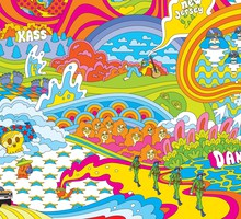 Psychedelic land HD wallpaper