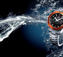 Water orange watches omega HD wallpaper