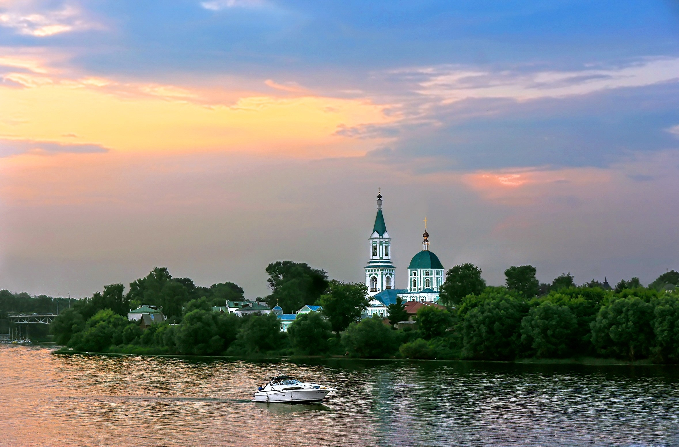 Evening On The Volga River Wallpaper AllWallpaperin PC En - The volga river