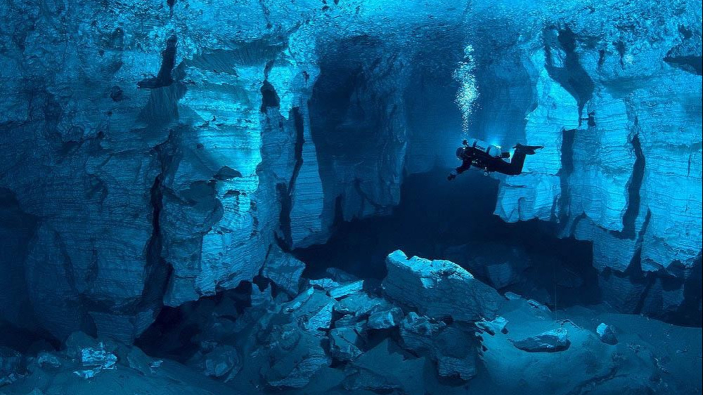 Landscapes cave russia underwater wallpaper allwallpaper - Underwater wallpaper for pc ...