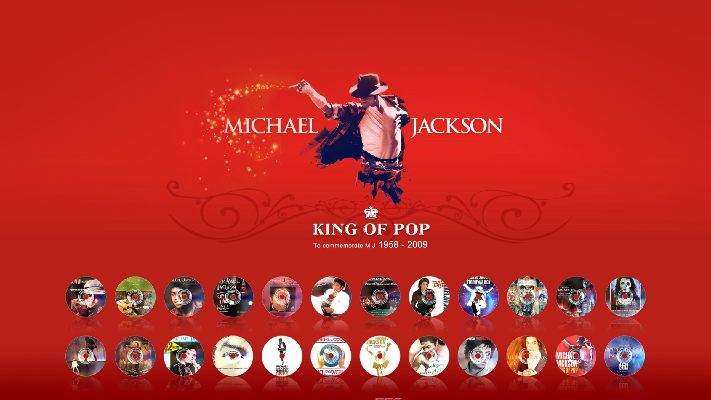 michael jackson red background wallpaper | allwallpaper.in #10806
