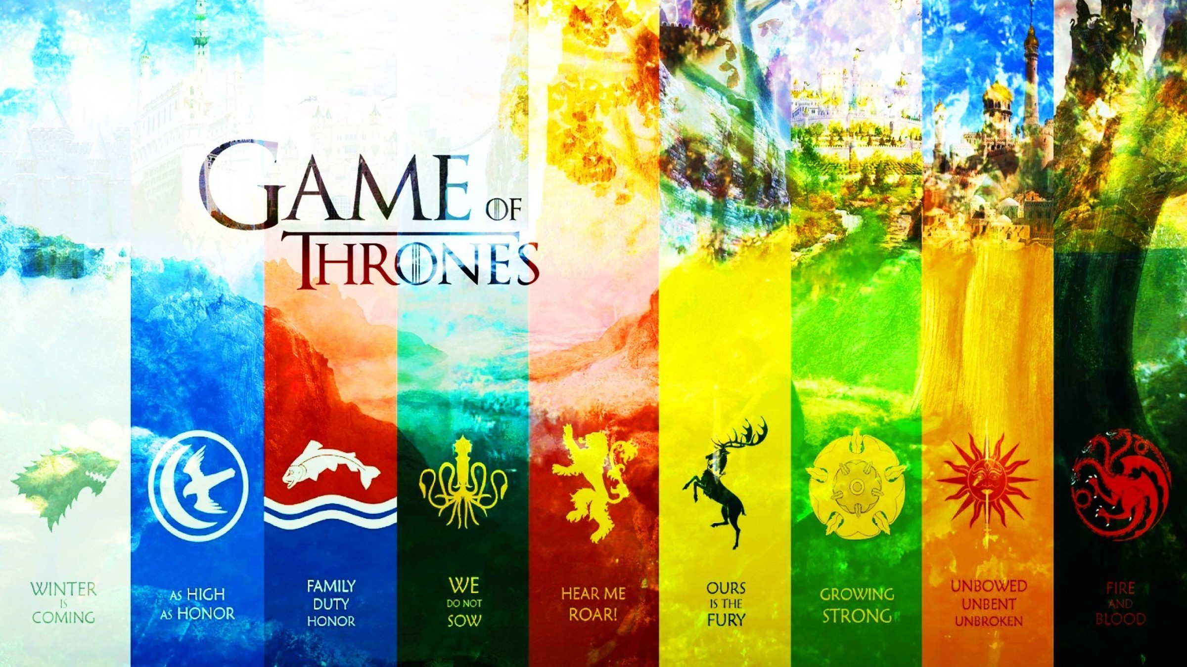 Game Of Thrones Maison Arryn Baratheon Greyjoy Lannister Papier