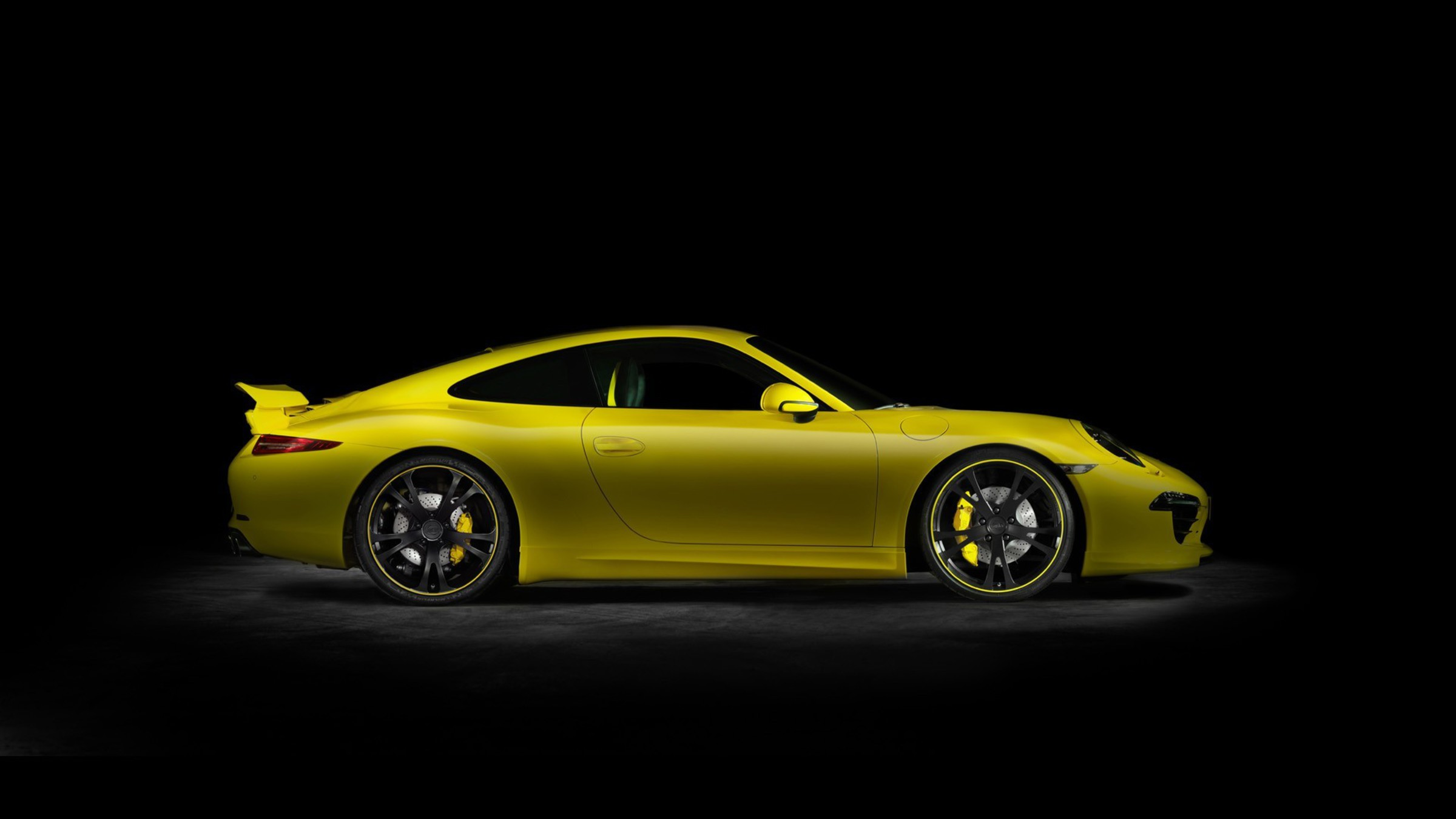 Porsche 911 Techart Yellow Cars Wallpaper Allwallpaperin 14773