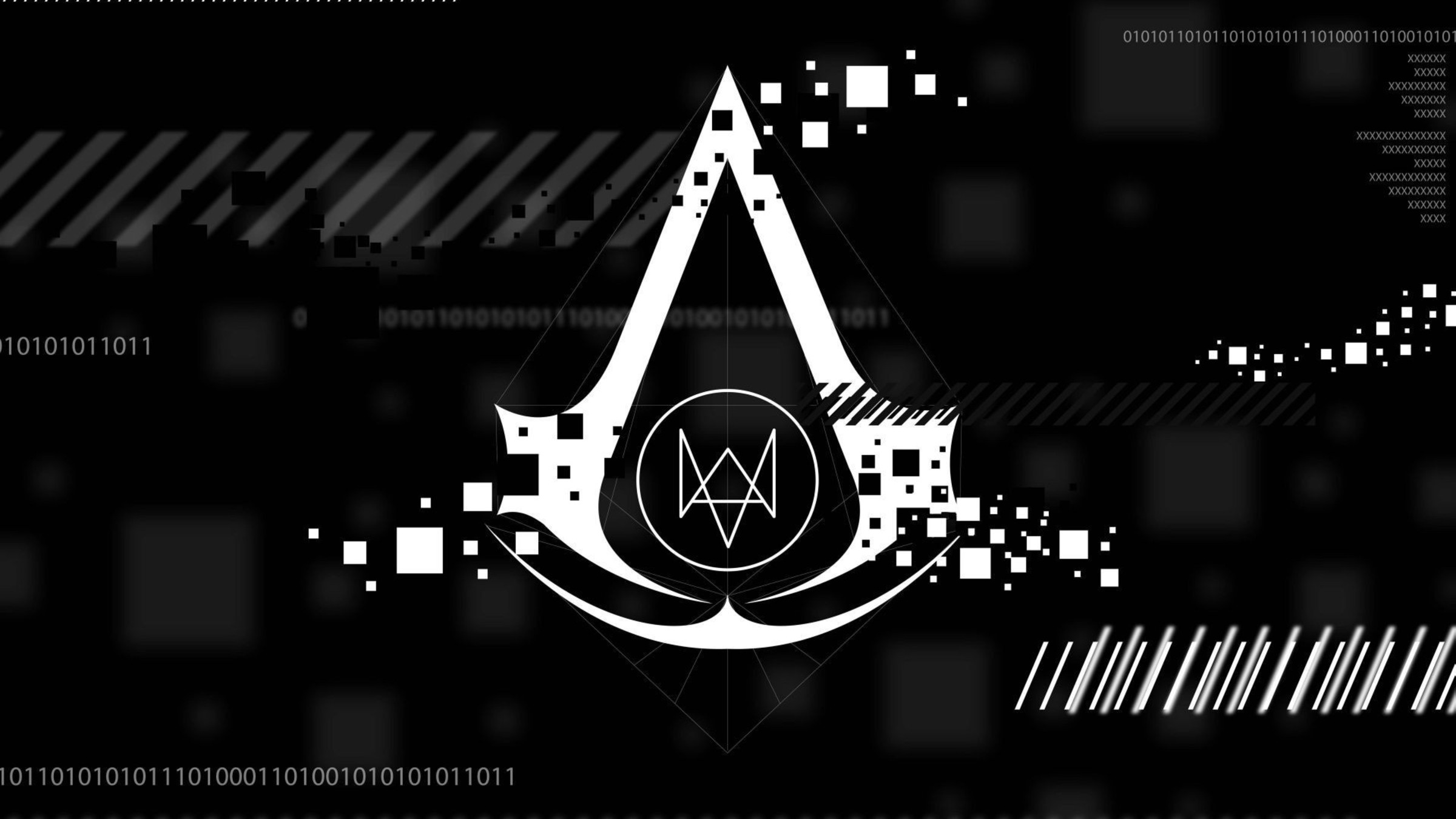 assassins creed watch dogs logos video games wallpaper