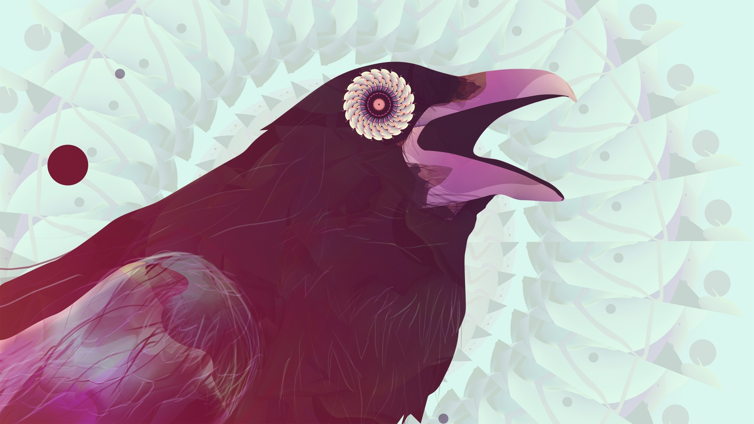 Abstract Birds Animals Digital Art Artwork Crows Ravens Wallpaper