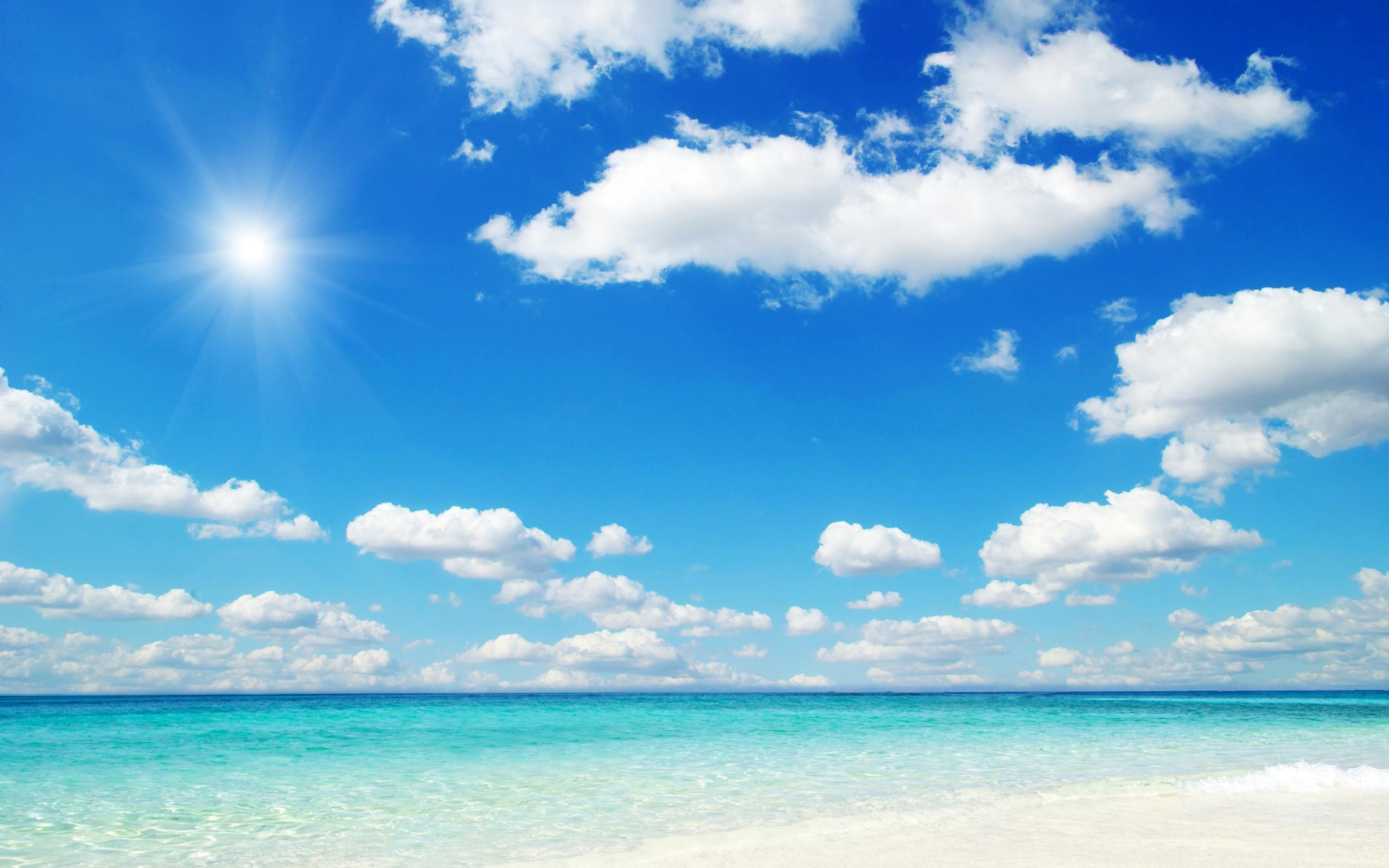 beach blue sky wallpaper | allwallpaper.in #11755 | pc | en