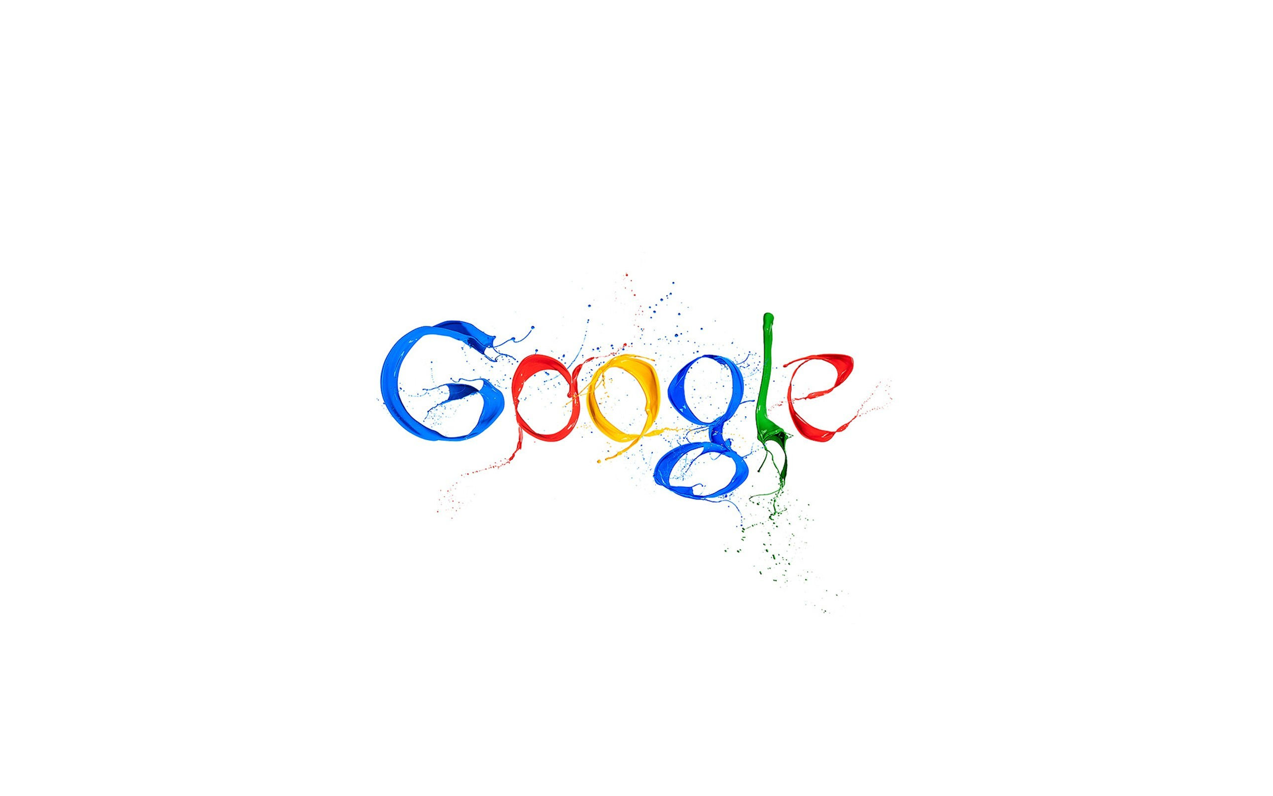 Paint Google Digital Art Logos White Background Wallpaper