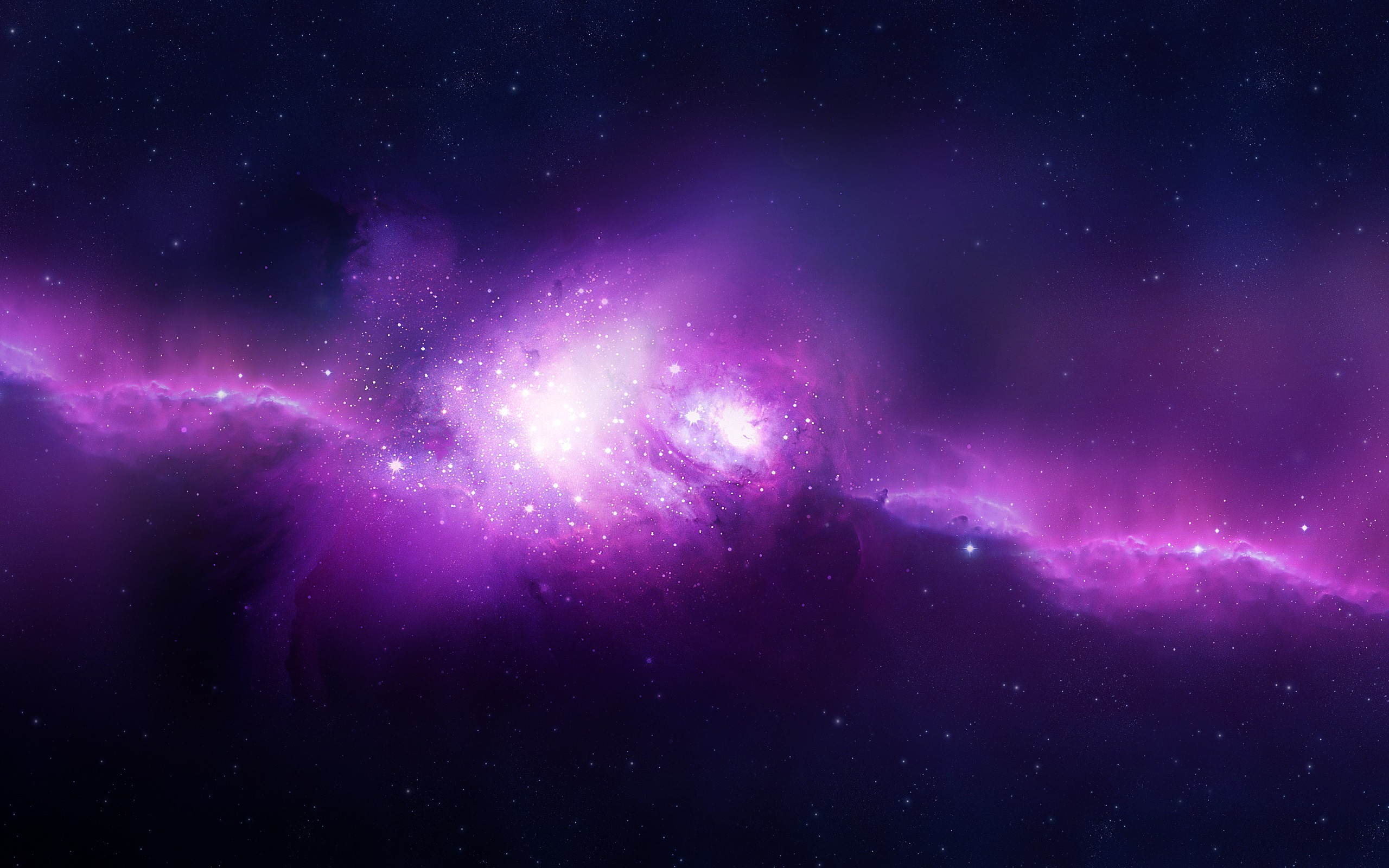 Purple Space Wallpaper