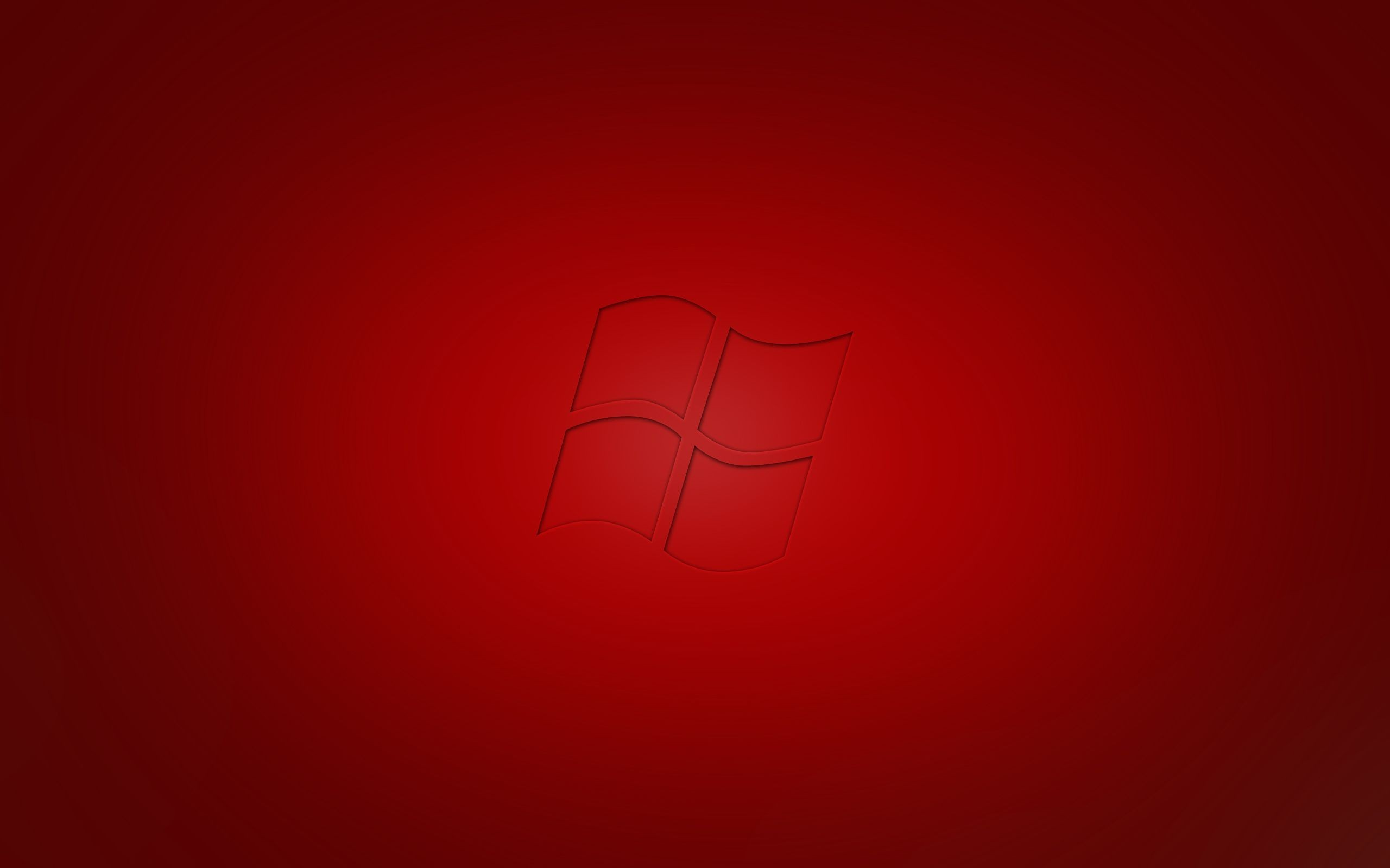 Microsoft Windows 7 Red Wallpaper