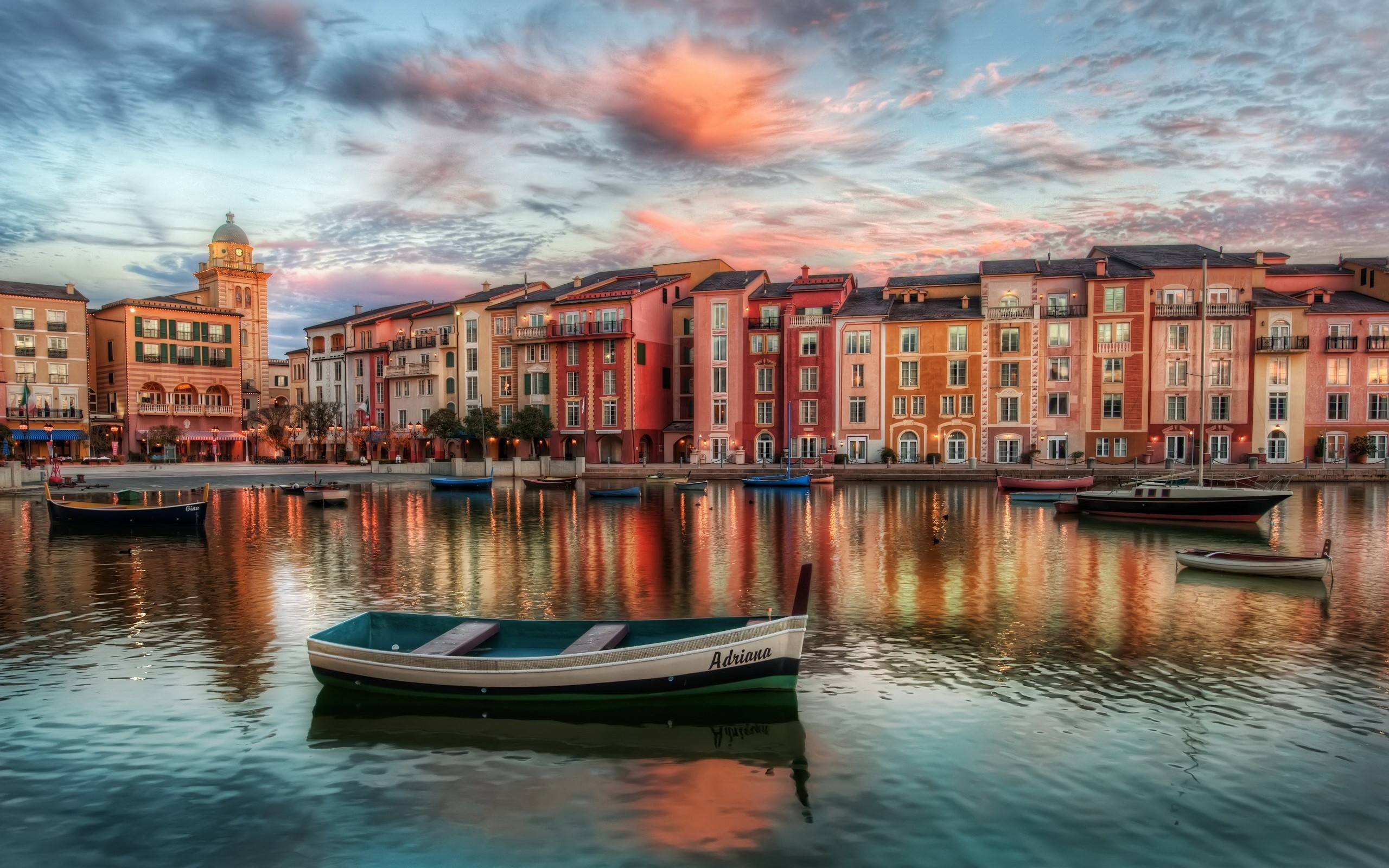 Hd wallpaper europe - Europe Italy Venice Boats Rivers