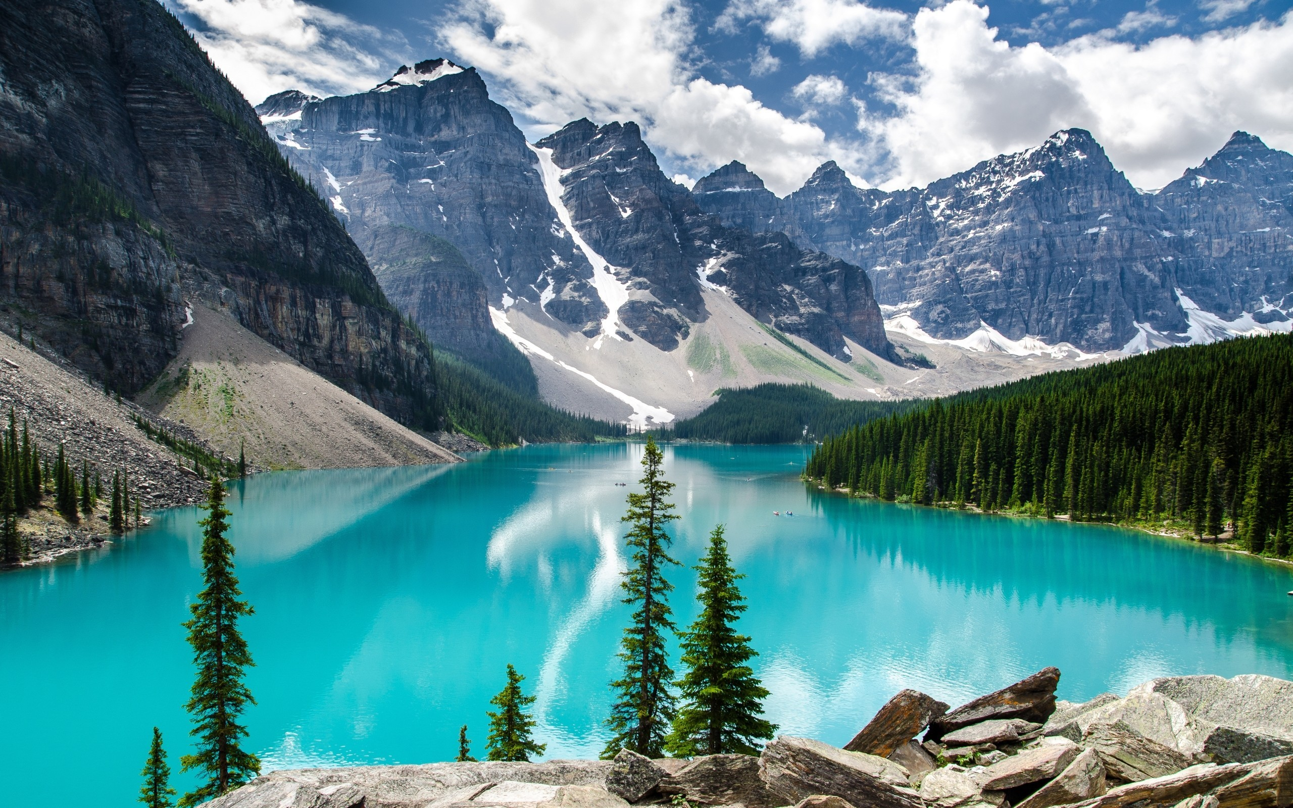 nature trees forest canada alberta lakes turquoise wallpaper