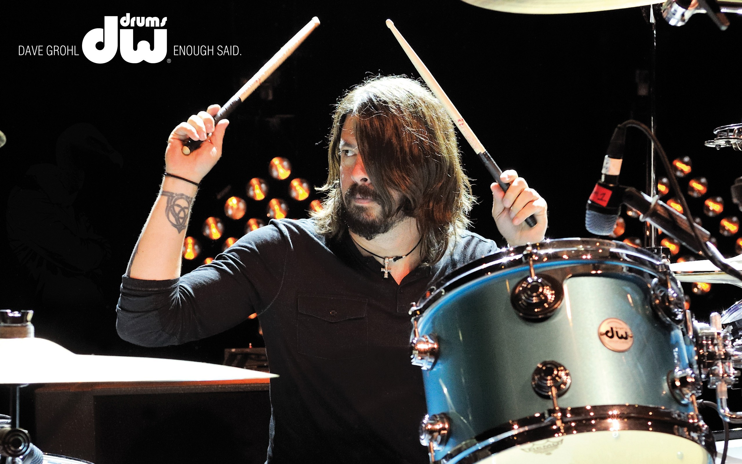 Dave Grohl Foo Fighters Drums Music Wallpaper
