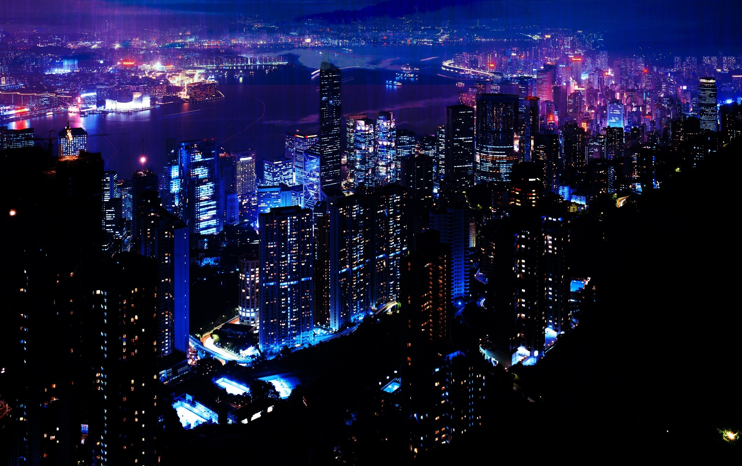 night skyscrapers cities wallpaper | allwallpaper.in #14924 | pc | en