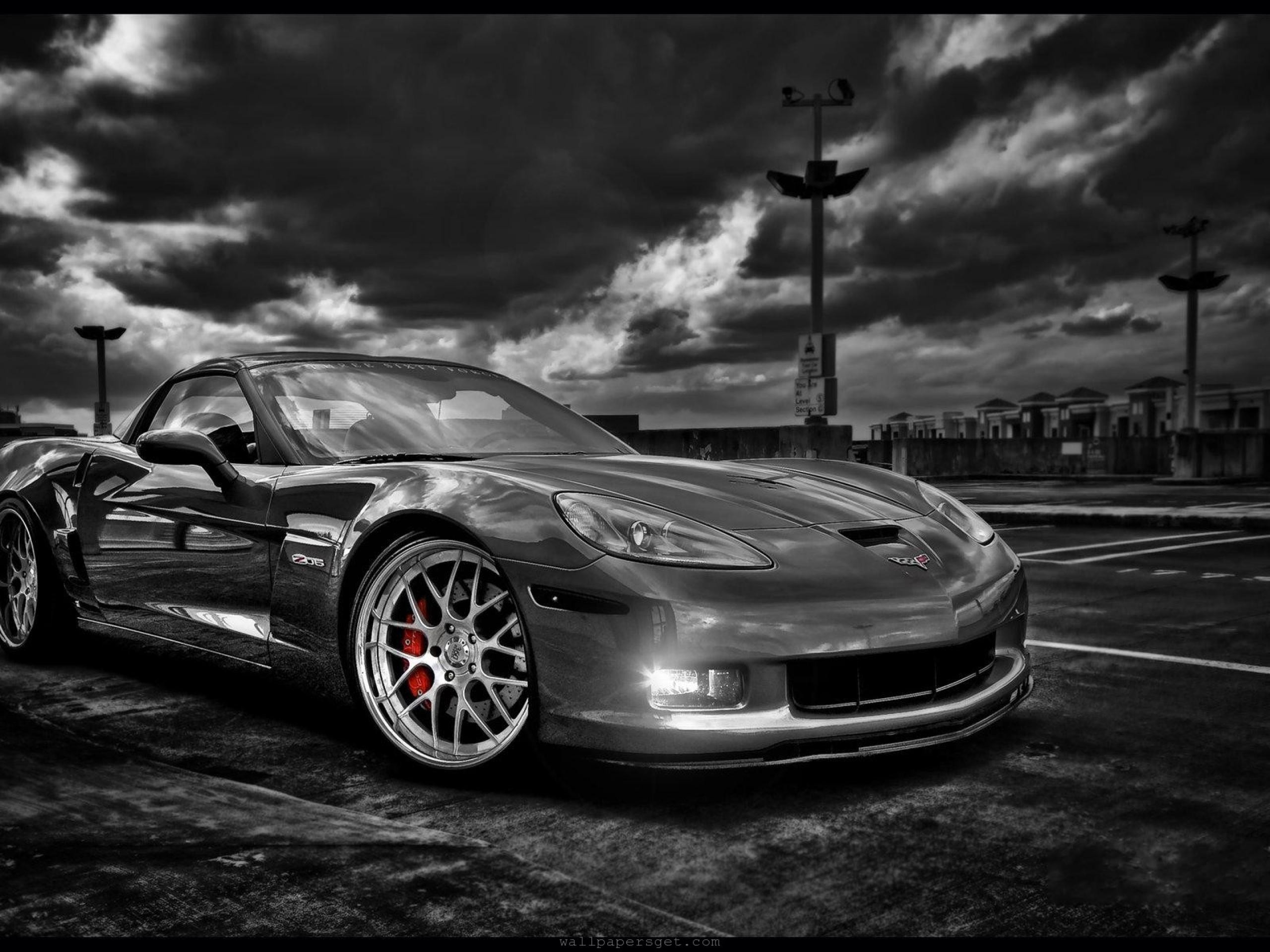 black and white cars corvette chevy wallpaper | allwallpaper.in