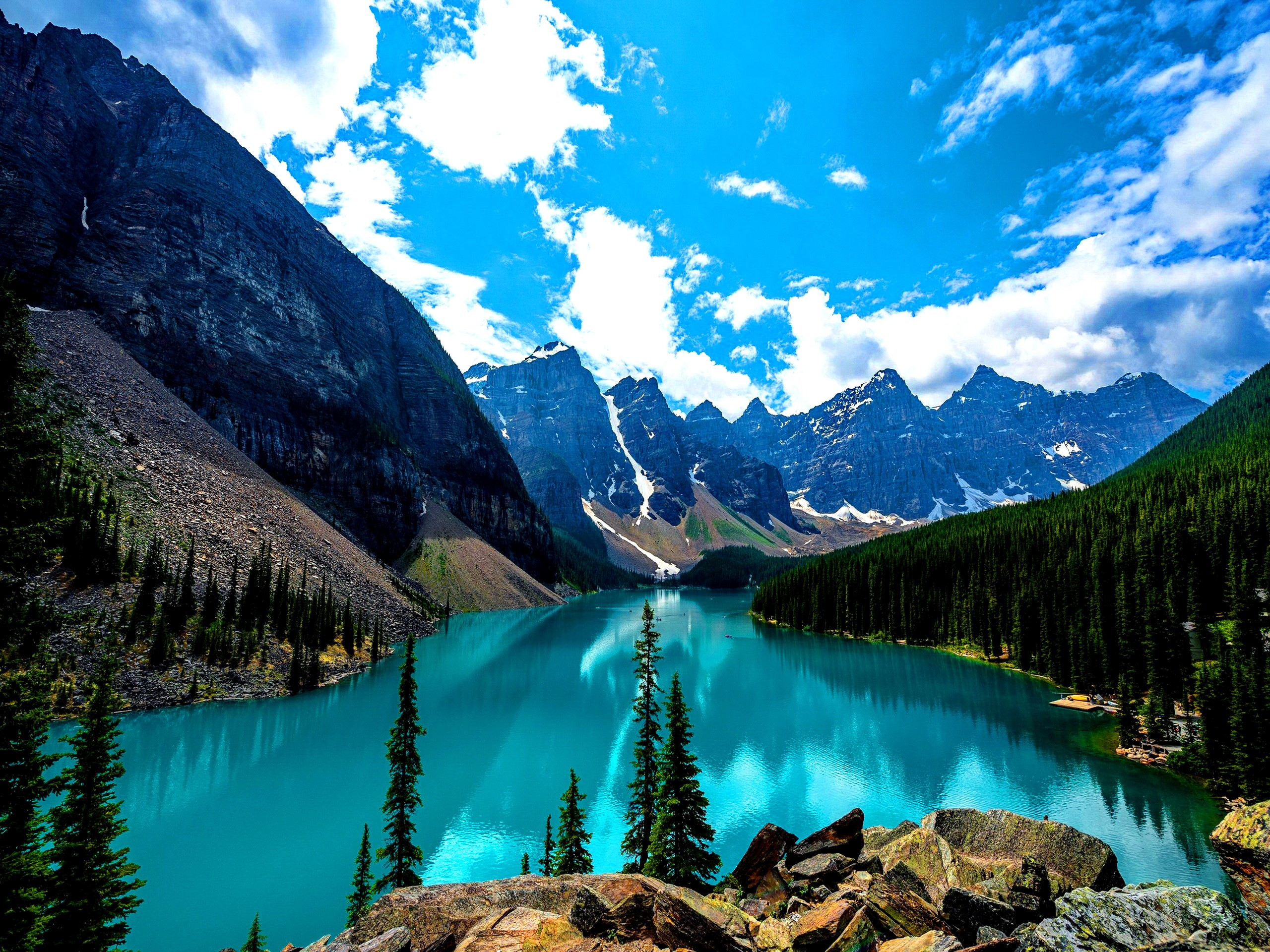 Moraine lake canada wallpaper 2731 pc for Wallpaper canada