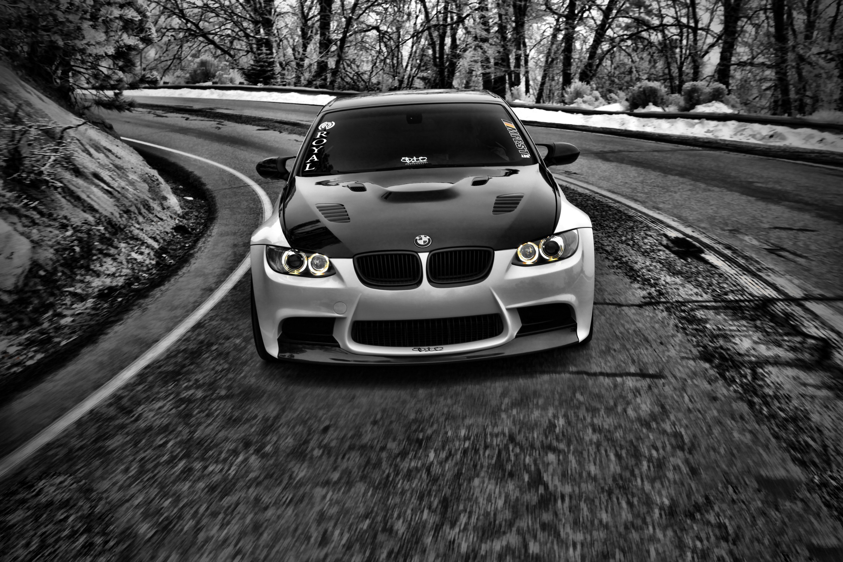 Black And White Cars Grayscale Bmw M3 Wallpaper