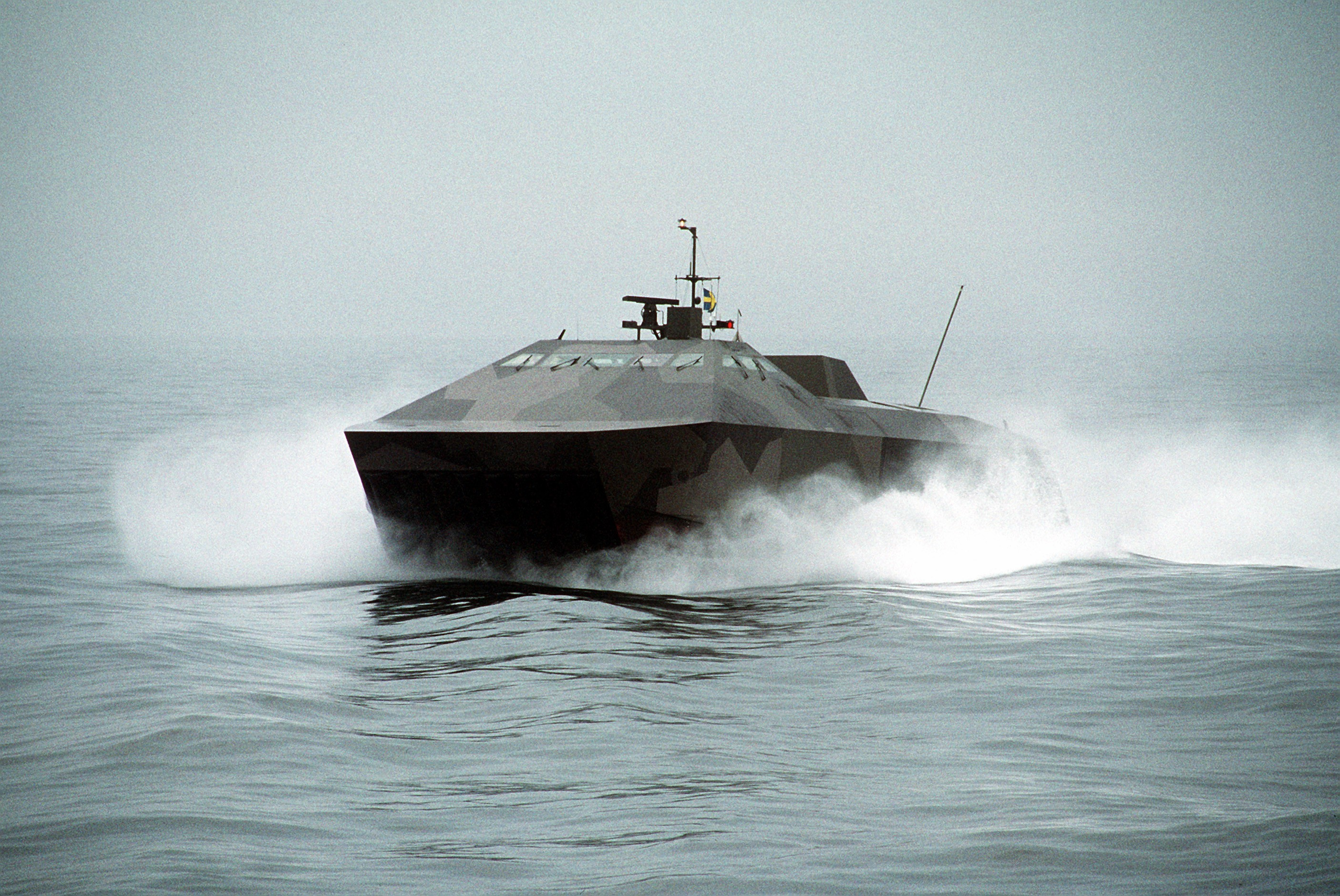 Hswms smyge stealth ship sweden swedish army hovercraft ...