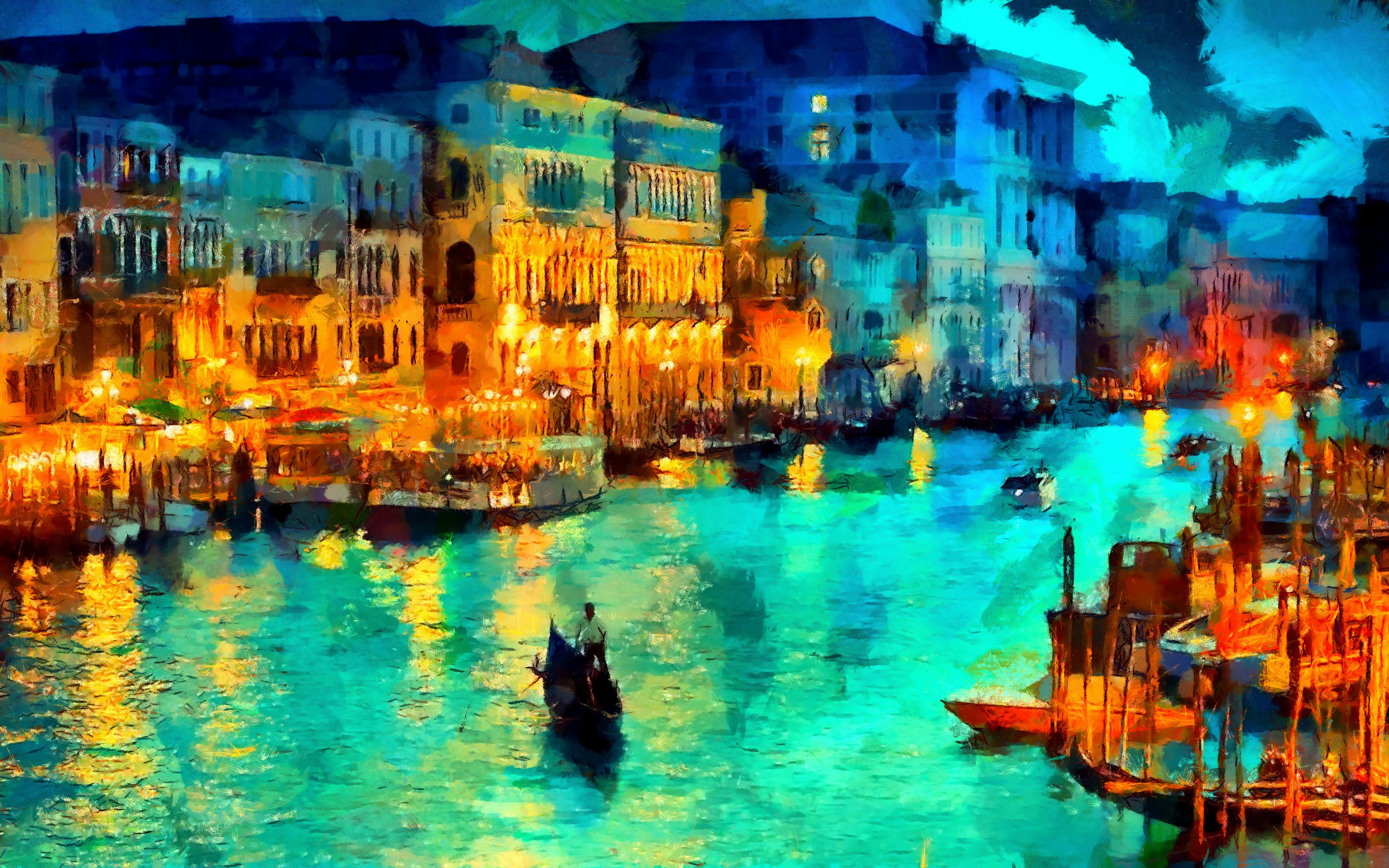 night in venezia wallpaper 7325 pc en