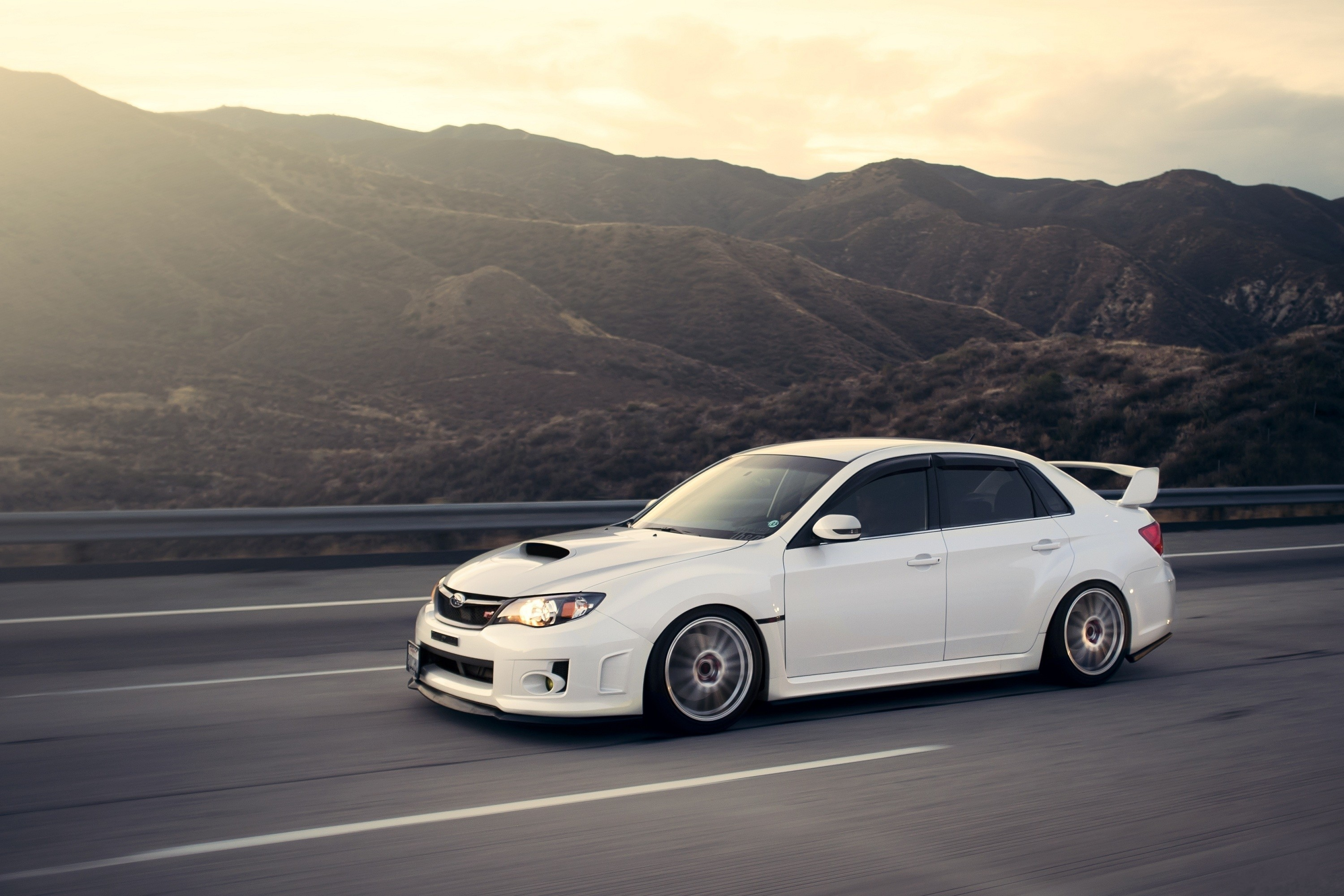 Subaru Impreza Wrx Sti Cars Mountains White Wallpaper Allwallpaper