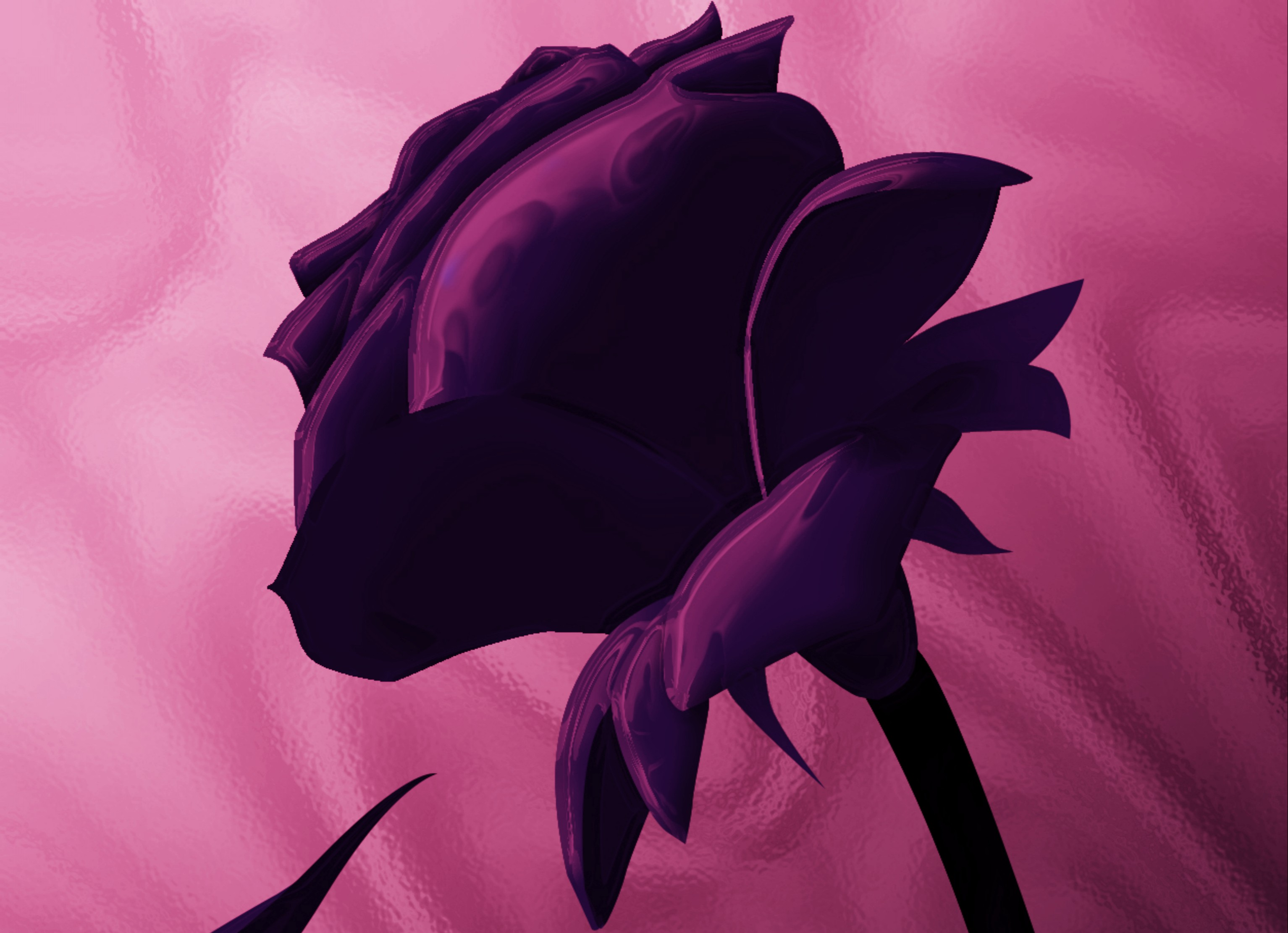 Dark Purple Rose Wallpaper
