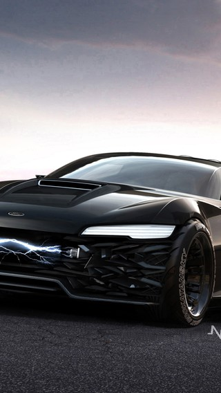 Concept Art Vehicles Ford Falcon Black Australia Wallpaper