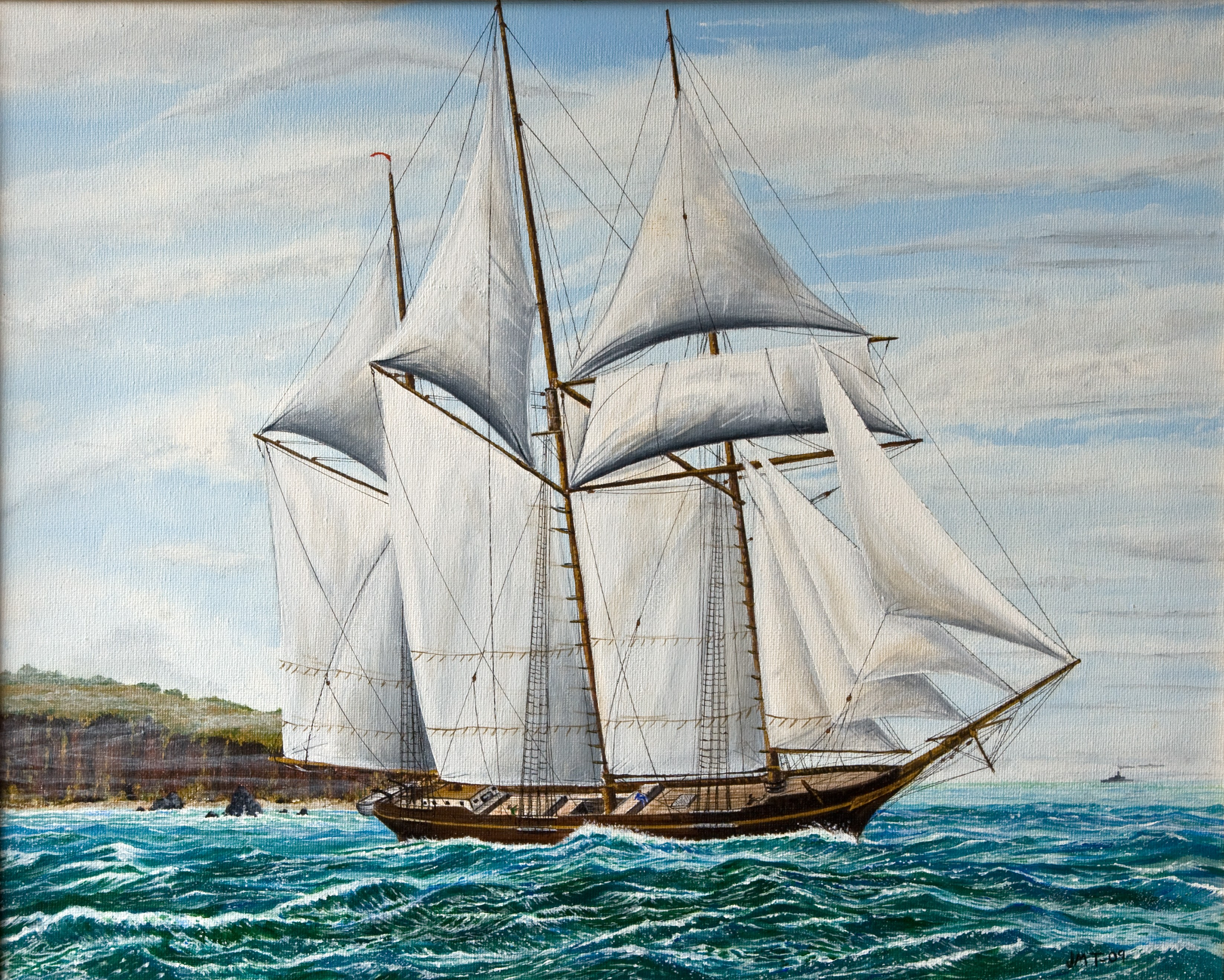 Great lakes top schooner wallpaper