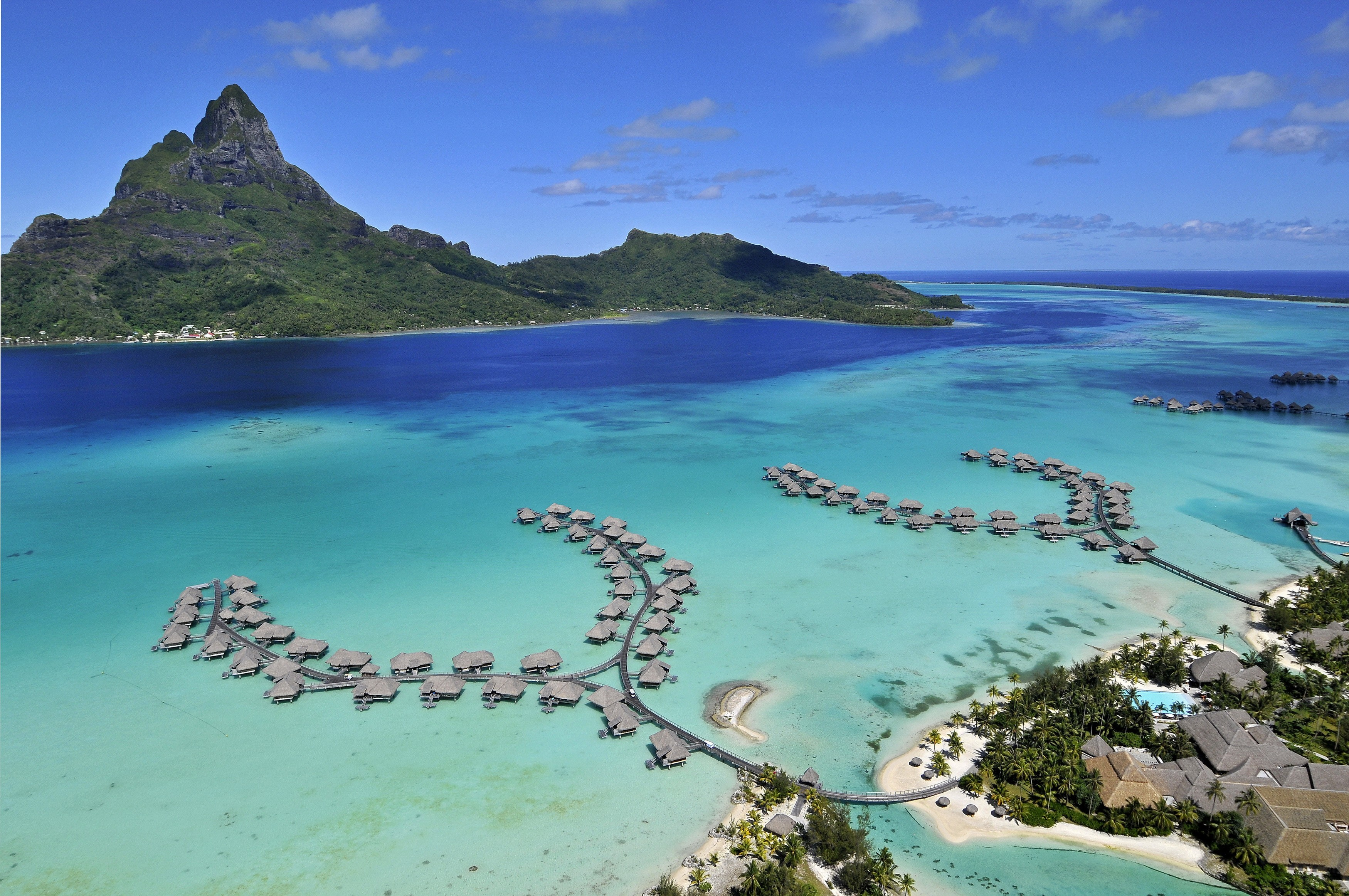 bora french polynesia pacific the island aerial wallpaper