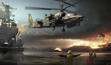 Military helicopters ka-52 HD wallpaper