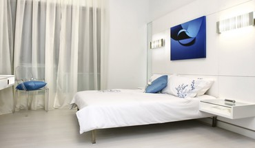 Modern floating bedroom HD wallpaper