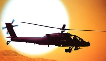 Ah64 apache us army attack helicopter helicopters sunset HD wallpaper