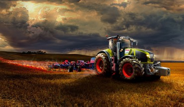Farm tractor HD wallpaper