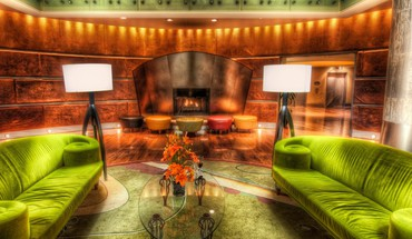 The lime couches hdr HD wallpaper
