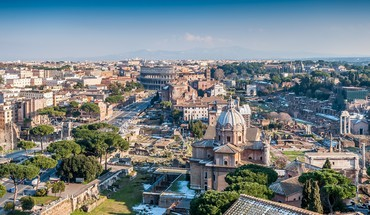 Beautiful view of rome HD wallpaper