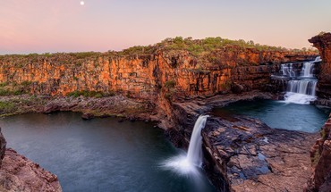 Australia cliff national park blue falls HD wallpaper
