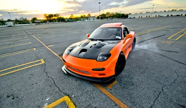 Cars vehicles drifting tuned mazda rx7 HD wallpaper