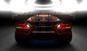 Cars lamborghini aventador sports backlights HD wallpaper