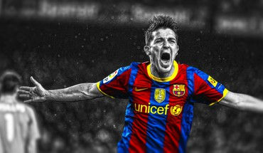 Villa stars cutout football player barcelona fc HD wallpaper