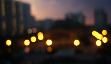 Bokeh cityscapes storm HD wallpaper