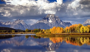Autumn forests lakes landscapes mountains HD wallpaper
